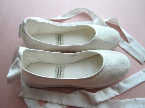 To replace my old ones!  http://www.etsy.com/listing/61136949/eco-chic-handmade-vegan-bridal-ballet