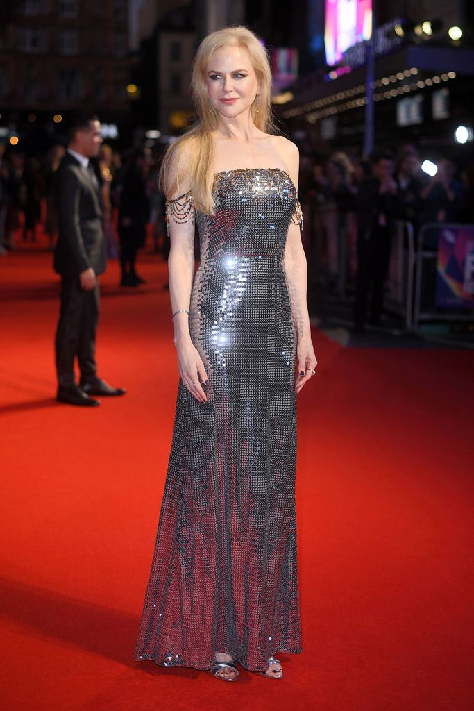 Nicole Kidman Shines in Prada Like a Disco Ball at London