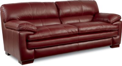 Beautiful La Z Boy Dexter Leather Sofa Upholstery: Rouge