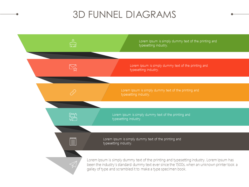 D Sales Funnel Diagram Presentationdesign Powerpoint