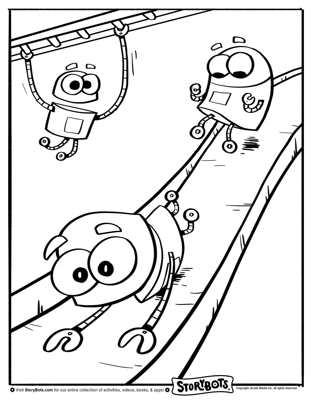 Coloring book page of a playground - Coloring Sheet Playground