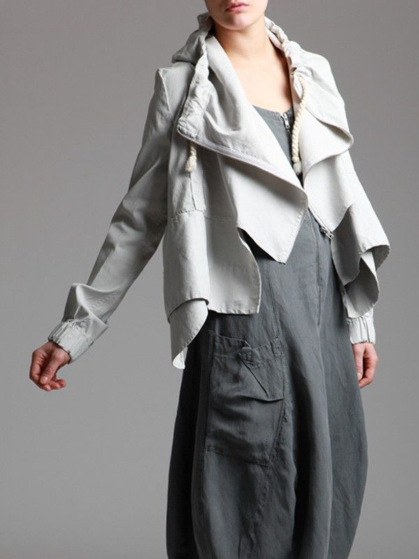 Resin Cotton Jacket with Lycra and Fantasy Wood by LURDES BERGADA