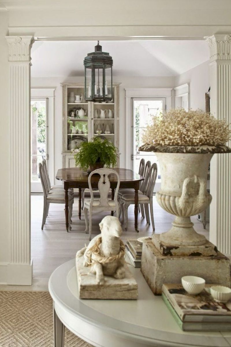 Beautiful French Country Dining Room Ideas 45