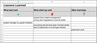 3 Lesson Learned Templates Word Excel Pdf 8