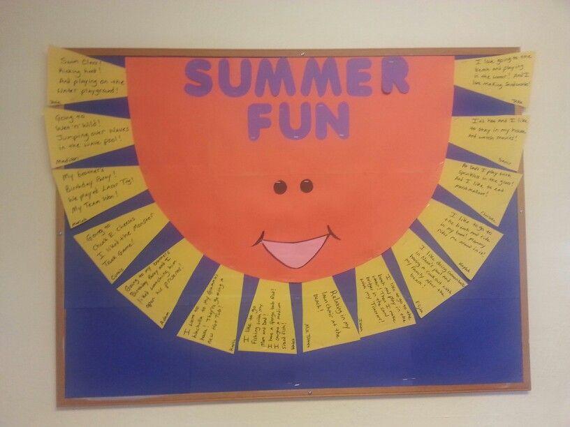 Bulletin Board Idea Summer Fun At The Start Of The