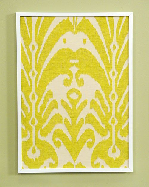 Framed Fabric | Framed fabric, Fabrics and Inexpensive wall art
