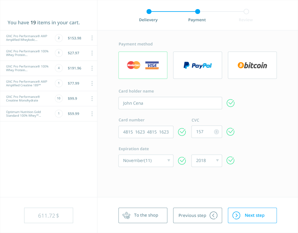 Payment Form Concept  Ui Movement  Interaction Design