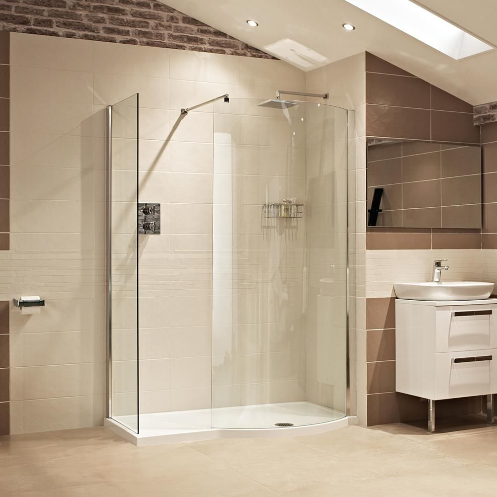 Lovely Lumin8 1450mm Colossus Shower Enclosure     The Colossus Offers A Luxurious  Curved Walk