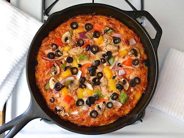 Baked Pan Pizza - budgetbytes.com