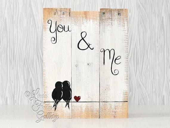 5th anniversary gift for couples gallery wall rustic wood sign reclaimed wood art love bird sign. Black Bedroom Furniture Sets. Home Design Ideas
