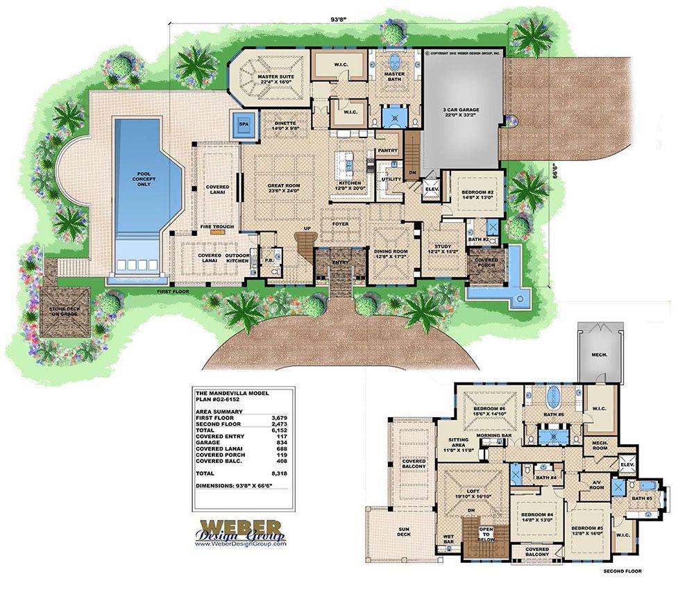 Caribbean House Plan Contemporary Luxury Beach Home Floor Plan Luxury House Plans Caribbean Homes House Floor Plans