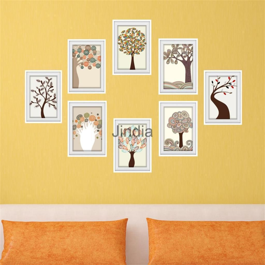 Vintage Collage 3D Picture Framed Wall Stickers Wall Painting Mural ...