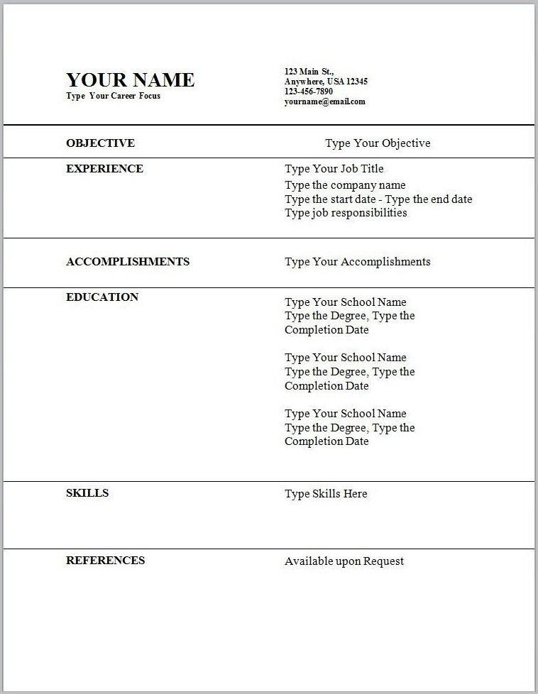nuik noke Resume Templates Wordpad in 2020 Resume