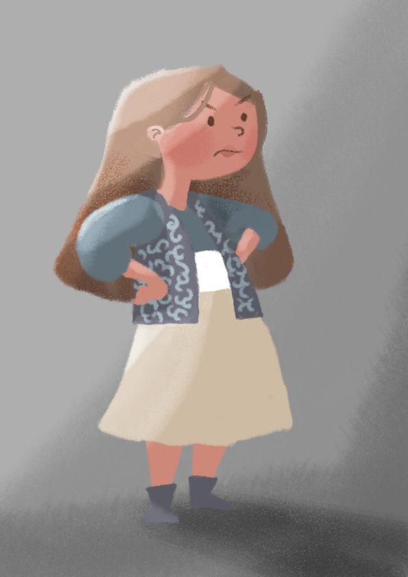 Girl, character design by Manja Ciric