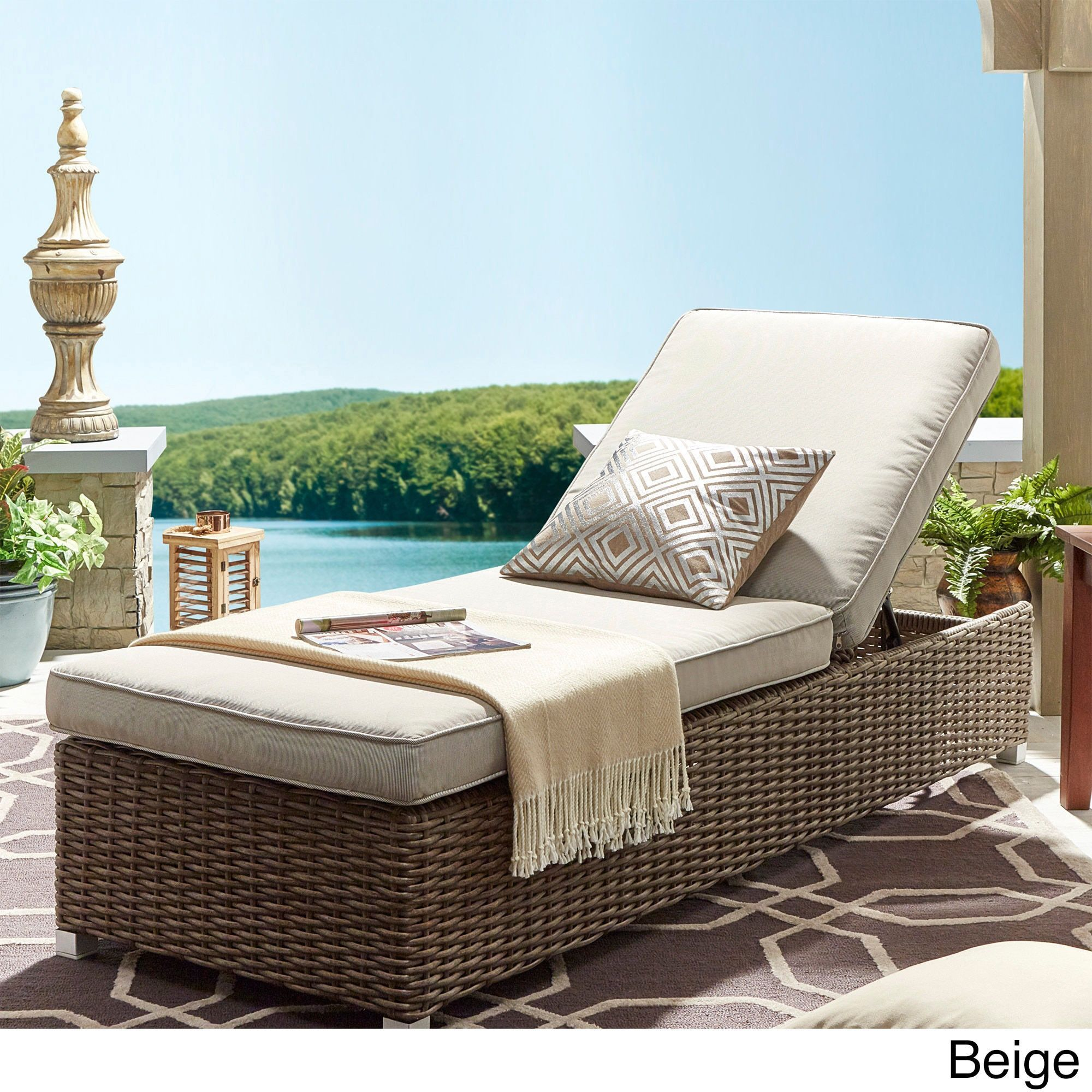 barbados wicker outdoor cushioned brown mocha adjustable chaise