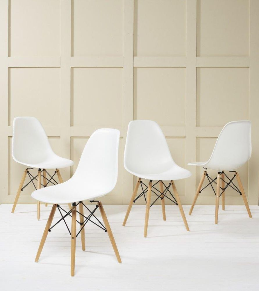 3d6bdf2700e Eames inspired Eiffel DSW style Chair Lounge Dining Retro Designer Panton  in Home
