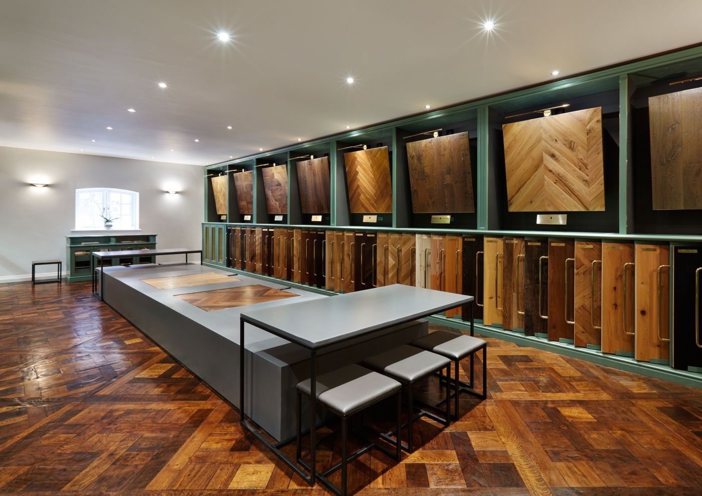 The Victorian Woodworks London showroom in Mayfair showcases eight  luxurious collections with over 80 exquisite wood floors on display.