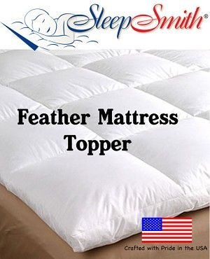 Adf32395 Cot Bed Feather Mattress Topper Feather Mattress Mattress Topper Mattress