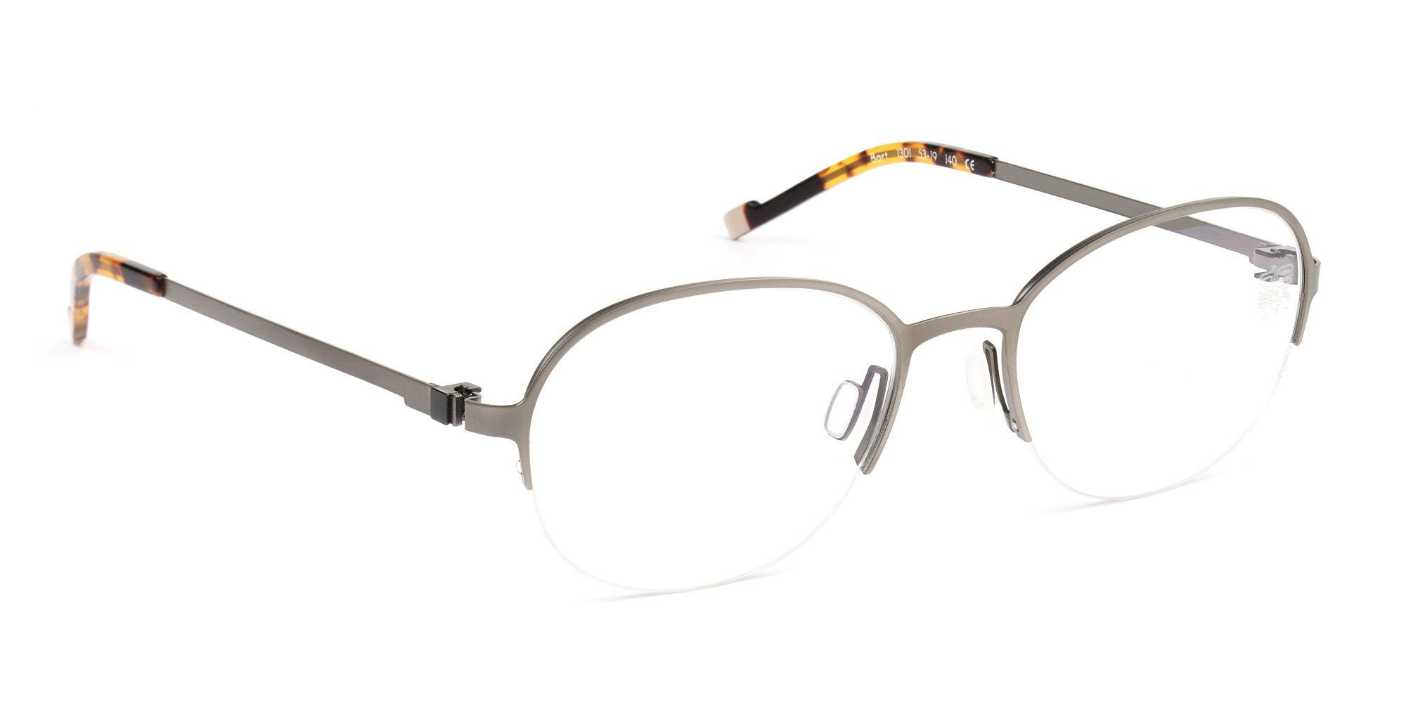 f9b377646257 De Stijl Holland 1924 eyewear  men semi-rimless eyeglasses frame BART in  color 1301