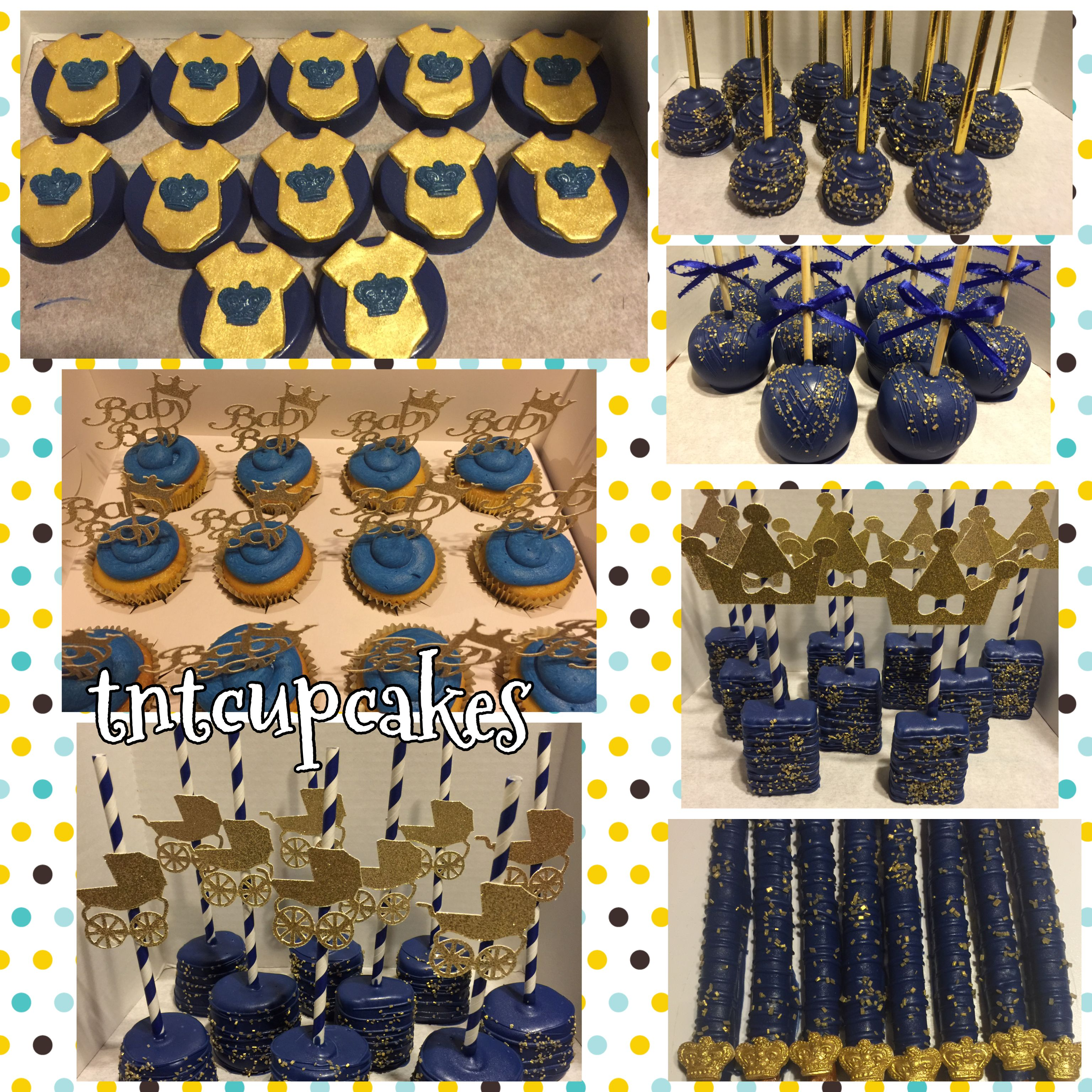 Royal Theme Baby Shower Treats   Royal Blue And Gold
