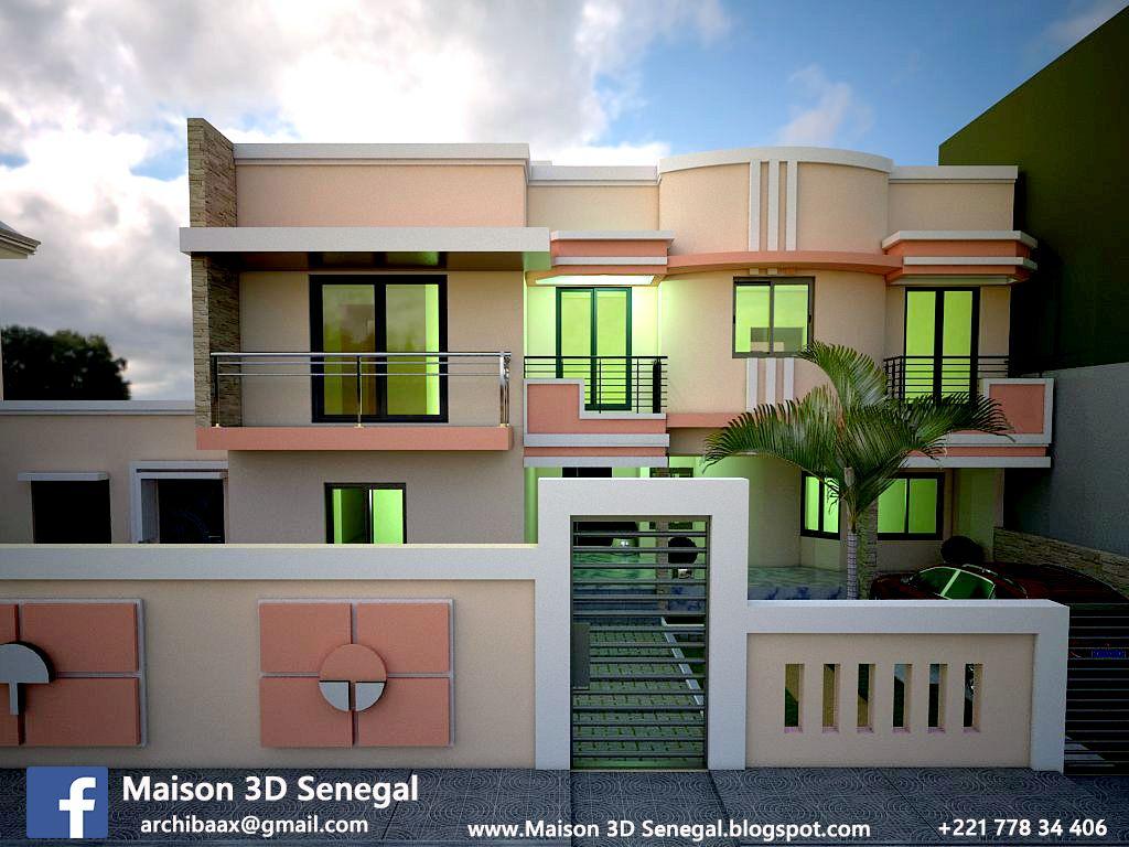 modern house 3D in senegal | Modern design house 3D senegal ...