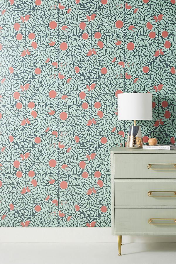 Orange Grove Wallpaper by Mitchell Black in Orange, Wall