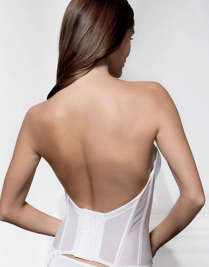 b75fb8e58b1 Fancy low back basque with beautiful lace front and push up effect.  Available to order at www.weddingnites.co.uk