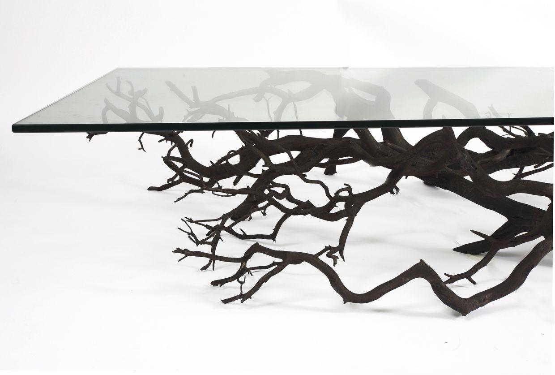 Iron Tree Branch Table Base Design Ideas