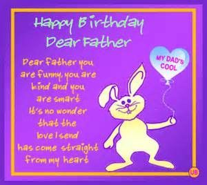 Happy Birthday Poem For Father