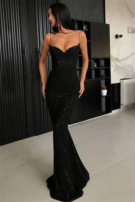 Mermaid Spaghetti Straps Sparkling Long Prom Dress Formal Evening Dresses 601429 Mermaid Prom Dresses Prom Dresses Uk Black Prom Dresses [ 1500 x 1000 Pixel ]