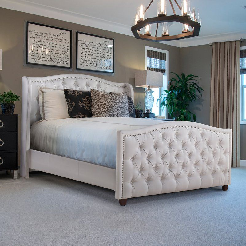 Hollington Upholstered Panel Bed in 2020 Upholstered