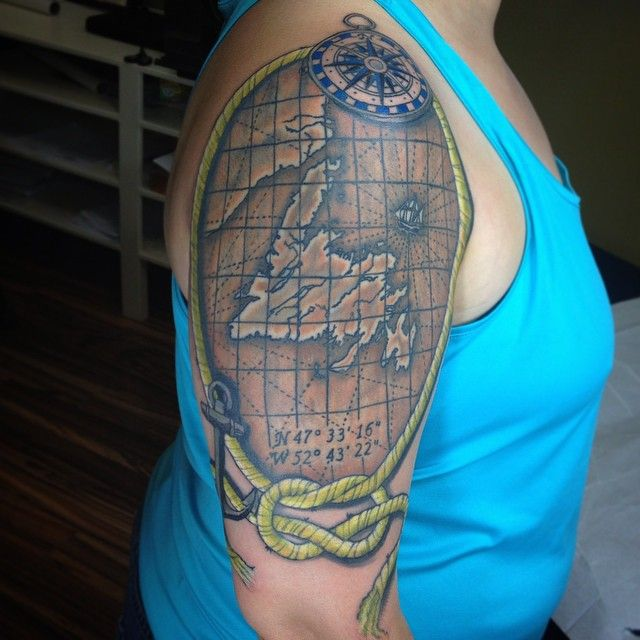 newfoundland tattoo back home in newfoundland pinterest tattoo meaning tattoos and. Black Bedroom Furniture Sets. Home Design Ideas