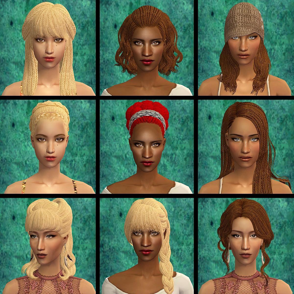 Sims 2 Hairstyles: Sims 2 Hair, Sims Hair, Sims