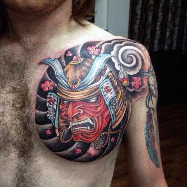 Top 103 Samurai Mask Tattoo Ideas 2020 Inspiration Guide Japanese Tattoo Samurai Mask Tattoo Japanese Tattoos For Men
