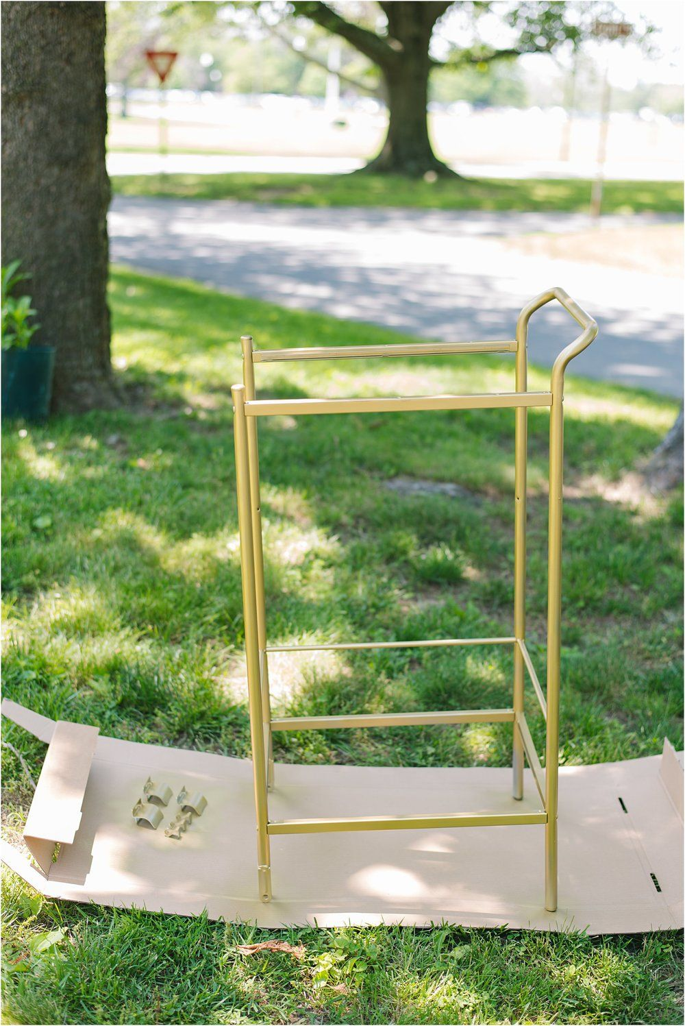 Diy Gold Ikea Bygel Utility Cart