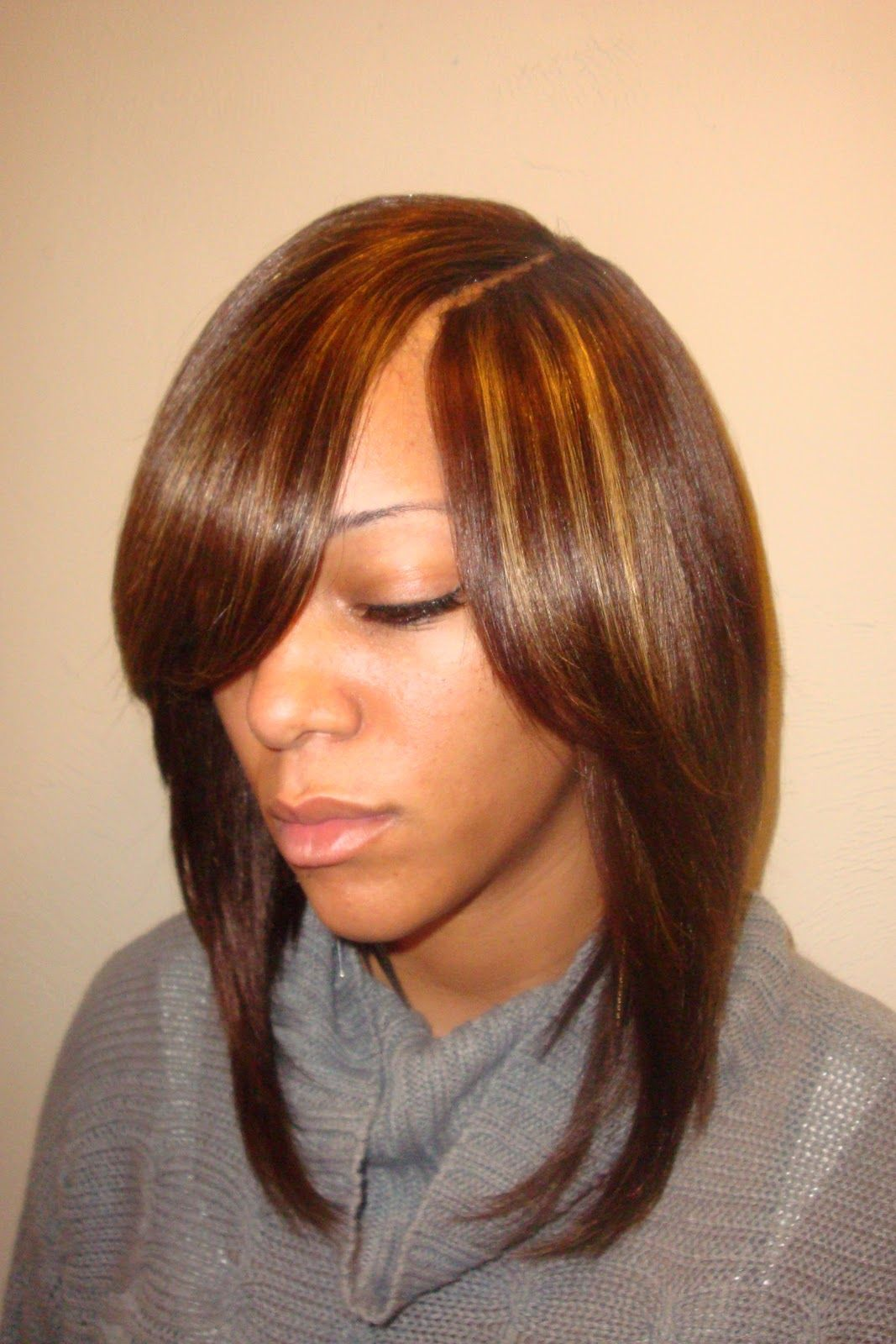 Sew In Hairstyles Long Hair Sew In Bob Hairstyles Invisible Part 255 Hair Styles Pinterest