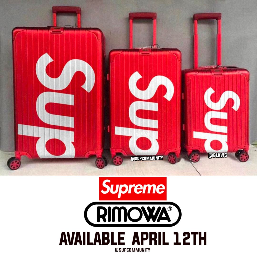 68b062807 Supreme/RIMOWA 3 Different Sizes 👀 Which size are you going for? 🔥 - Set  to release this Thursday April 12th - Week 8 👊🏼