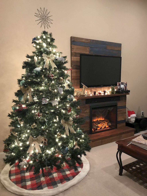 Nice 80 Fantastic Farmhouse Christmas Tree Decorating