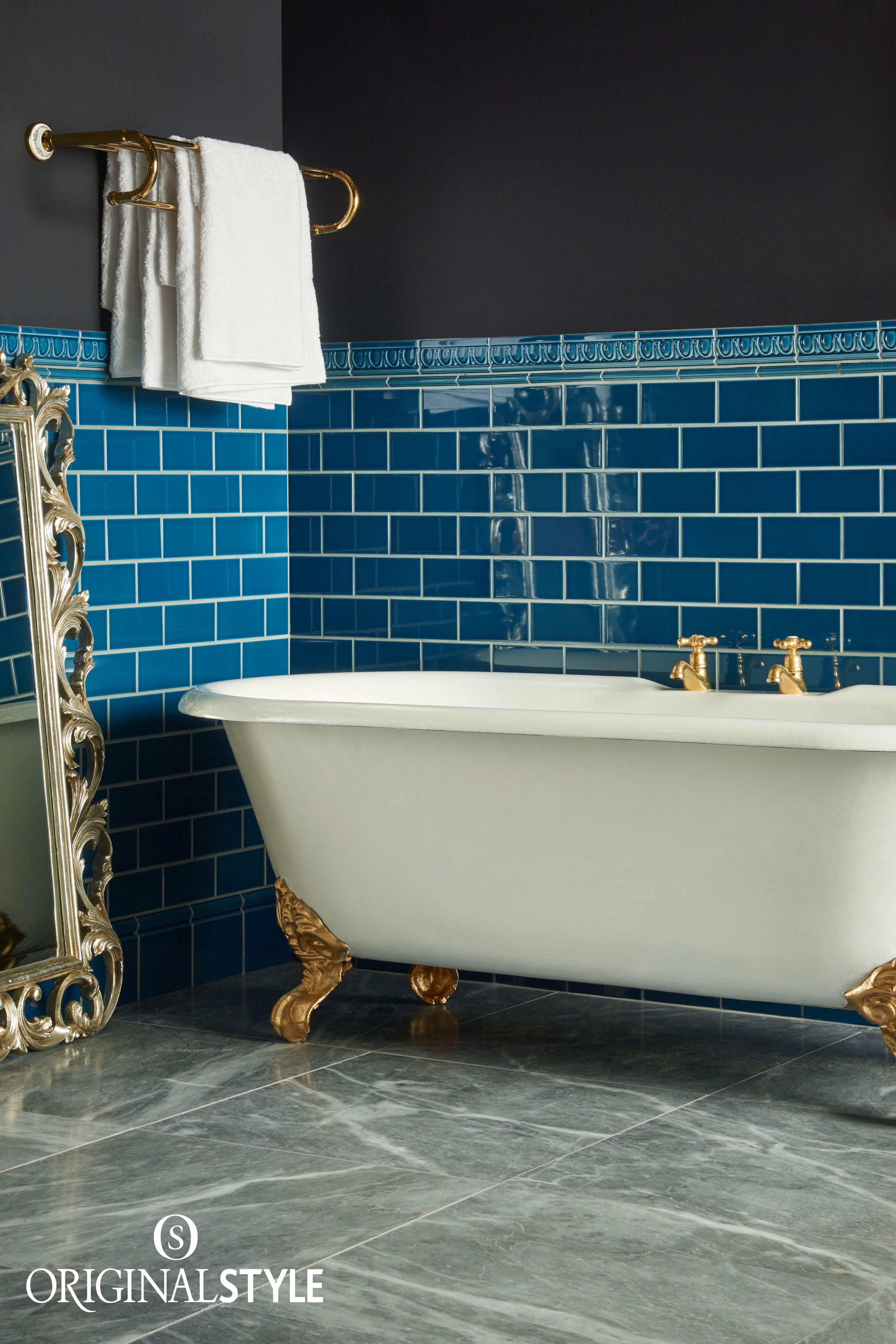 Baroque Blue Half Field Tile | Ranges, Moldings and Bathroom tiling