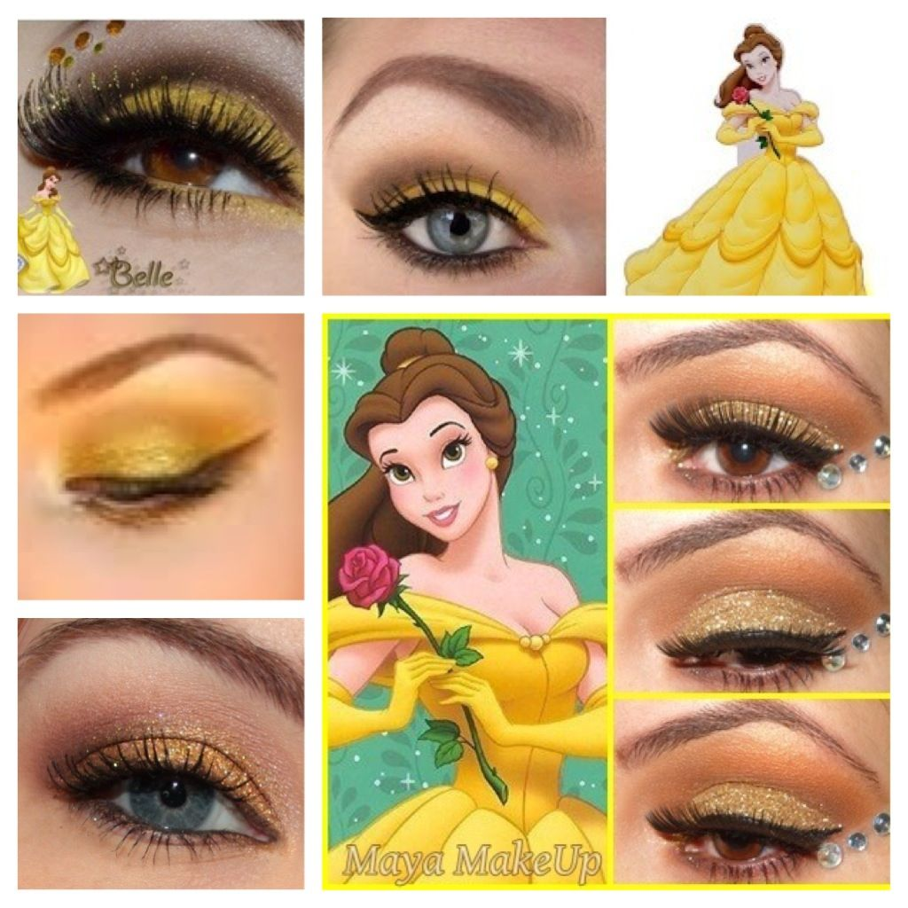 Princess belle make up ideas Princesse Belle, Maquillage Halloween, Yeux,  Coiffure, Maquillage