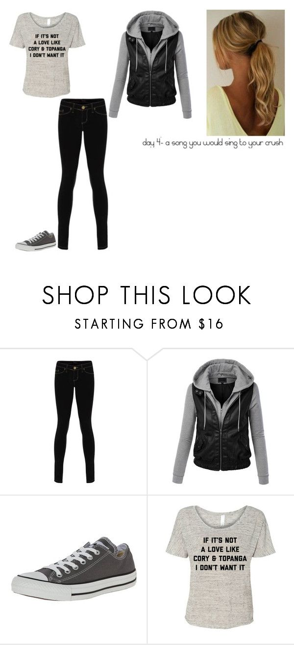"""""""10 day music challenge: Day 4"""" by ilovecats-886 ❤ liked on Polyvore featuring LE3NO and Converse"""