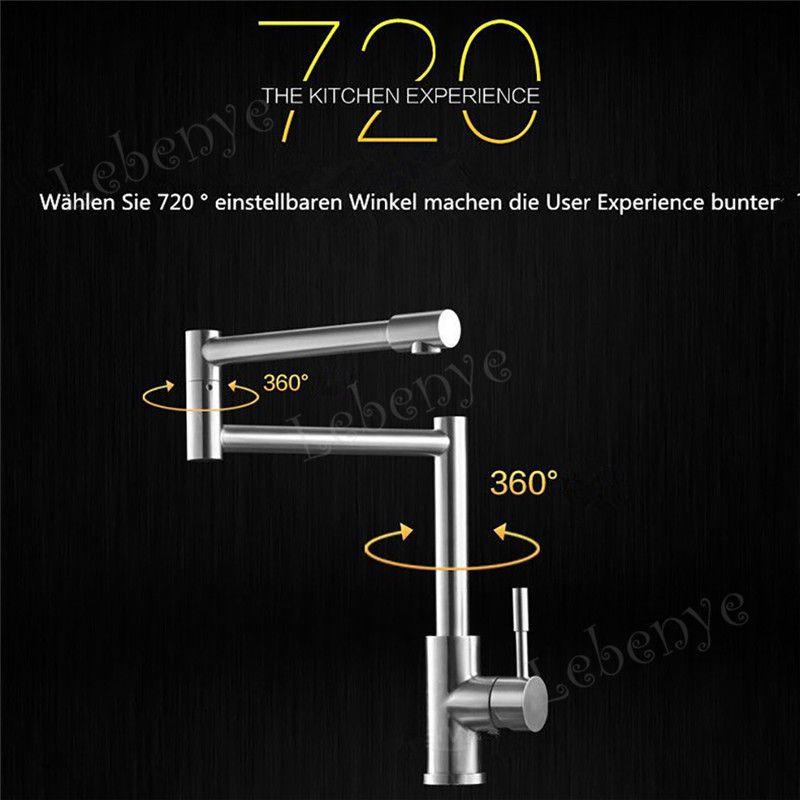 Design Edelstahl Drehbar Wasserhahn Küchen Armatur Spültisch - wasserhahn für die küche