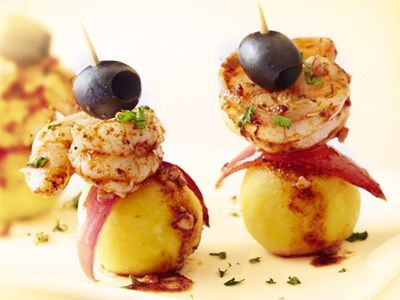 Escabeche de Camarones con Causa | Peruvian Food