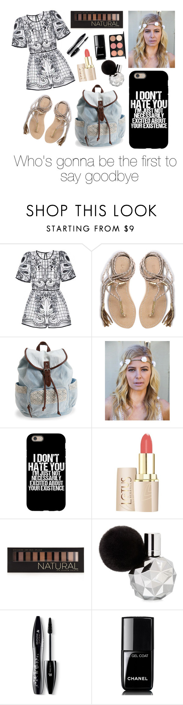"""""""Spaces"""" by hawraasaeed ❤ liked on Polyvore featuring L*Space, Aéropostale, Flower Gypsies, Forever 21, Lancôme, Chanel and MAC Cosmetics"""