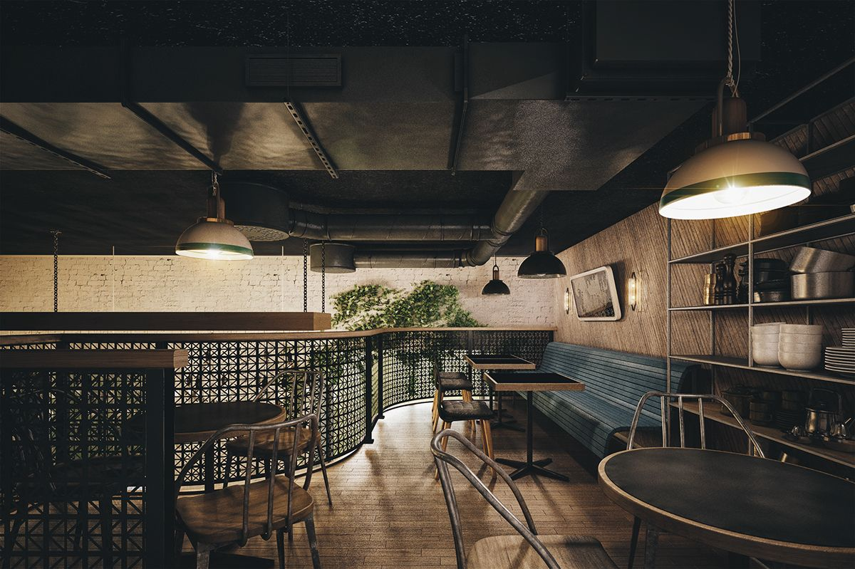 Holy smoke restaurant by bureau bumblebee on behance ideas