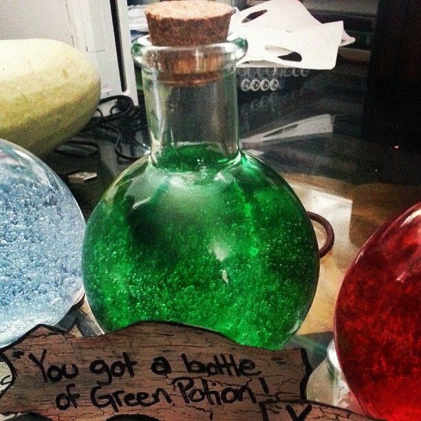 Water Bottle Zelda: Green Potion In A Bottle From Legend Of Zelda. (Made
