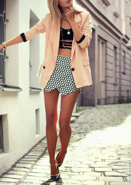 Mini + cutouts + bf blazer