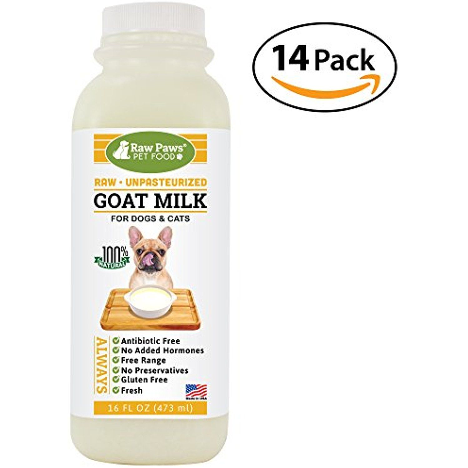 Raw Paws Pet Frozen Raw Goats Milk For Dogs And Cats 16 Ounce 14 Pack Dog Food Topper Dogs Food Topper Food Animals Goat Milk