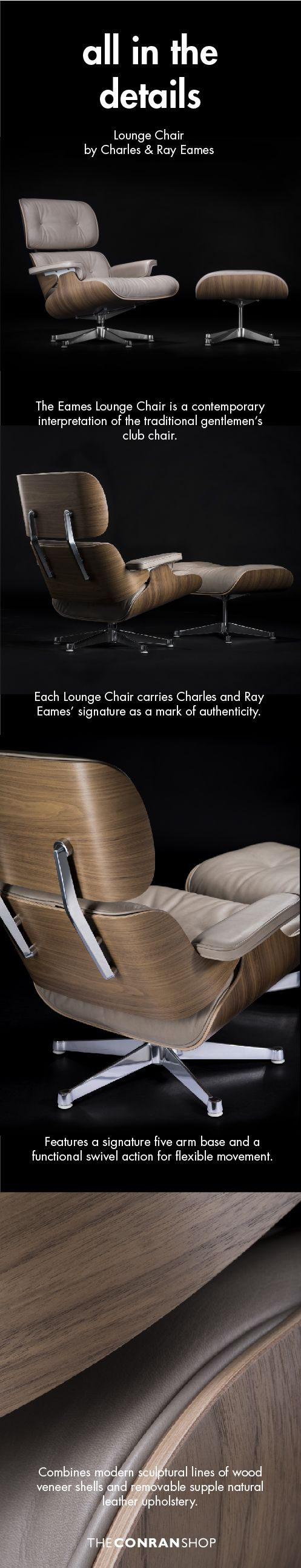 Pin by The Conran Shop on Eames Lounge Chair & Ottoman By