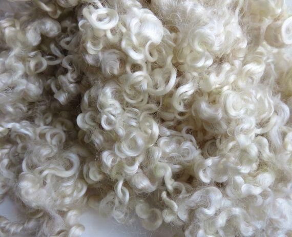 Teeswater Fleece Washed Undyed White 2 Ounces by RainbowTwistShop